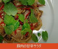 豚肉の甘辛サラダ